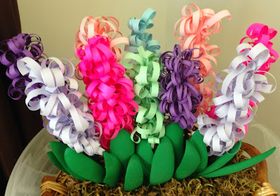 how to make curly paper hyacinths
