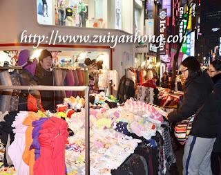 Myeongdong Apparel Stall
