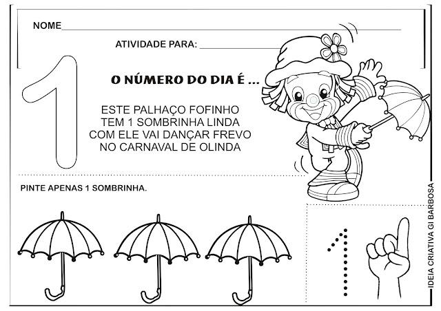 Atividade Número 1 Carnaval Patati Patatá