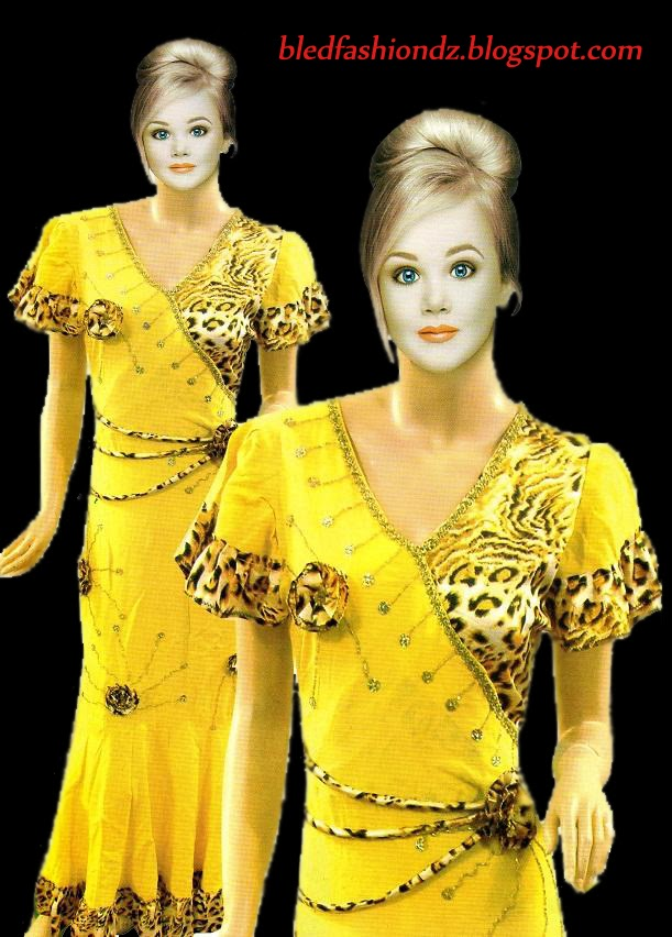 La Mode Algerienne Robe Interieure Jaune Panthere