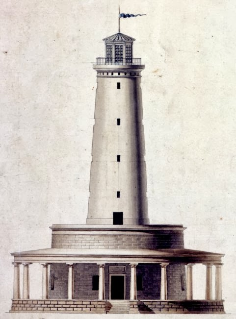 Mississippi River Lighthouse - Frank's Island, Louisiana - 1820