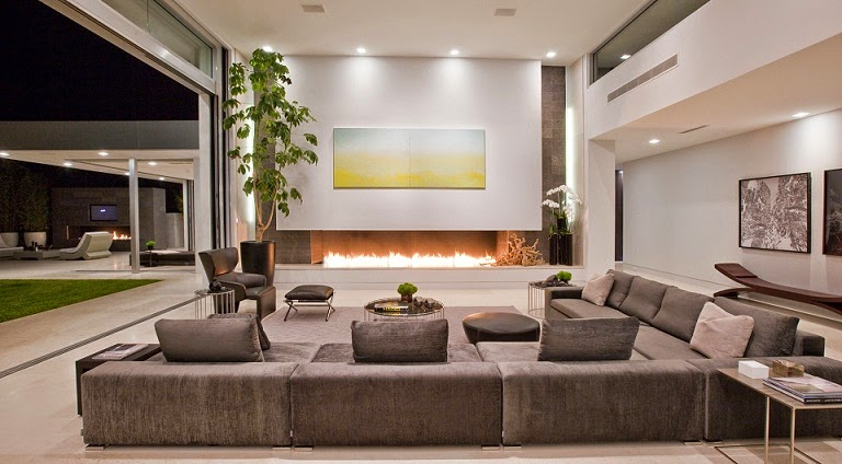 Casa minimalista beverly hills mcclean design for Lujo interiores minimalistas