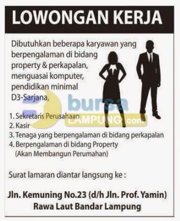Lowongan Kerja SEKRETARIS Lampung, Sabtu 6 September 2014