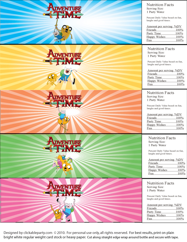 Fantastic Clickable Party Adventure Time Free Printable Party Funny Birthday Cards Online Drosicarndamsfinfo