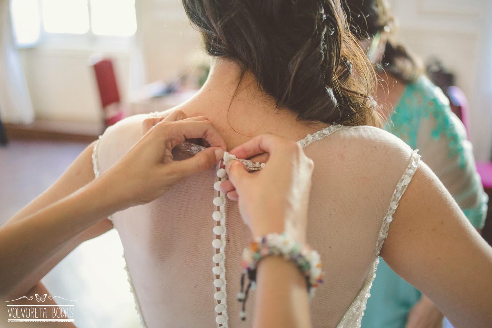 espalda vestido novia pronovias