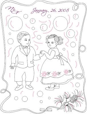 Casamento para colorir