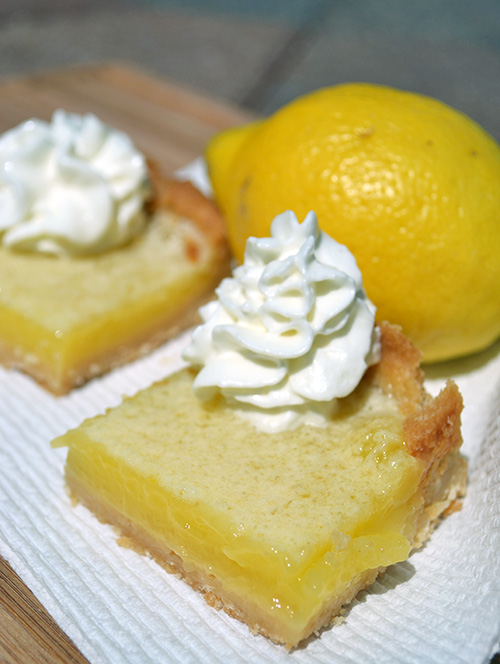 Classic Lemon Bars , adapted from Food Network
