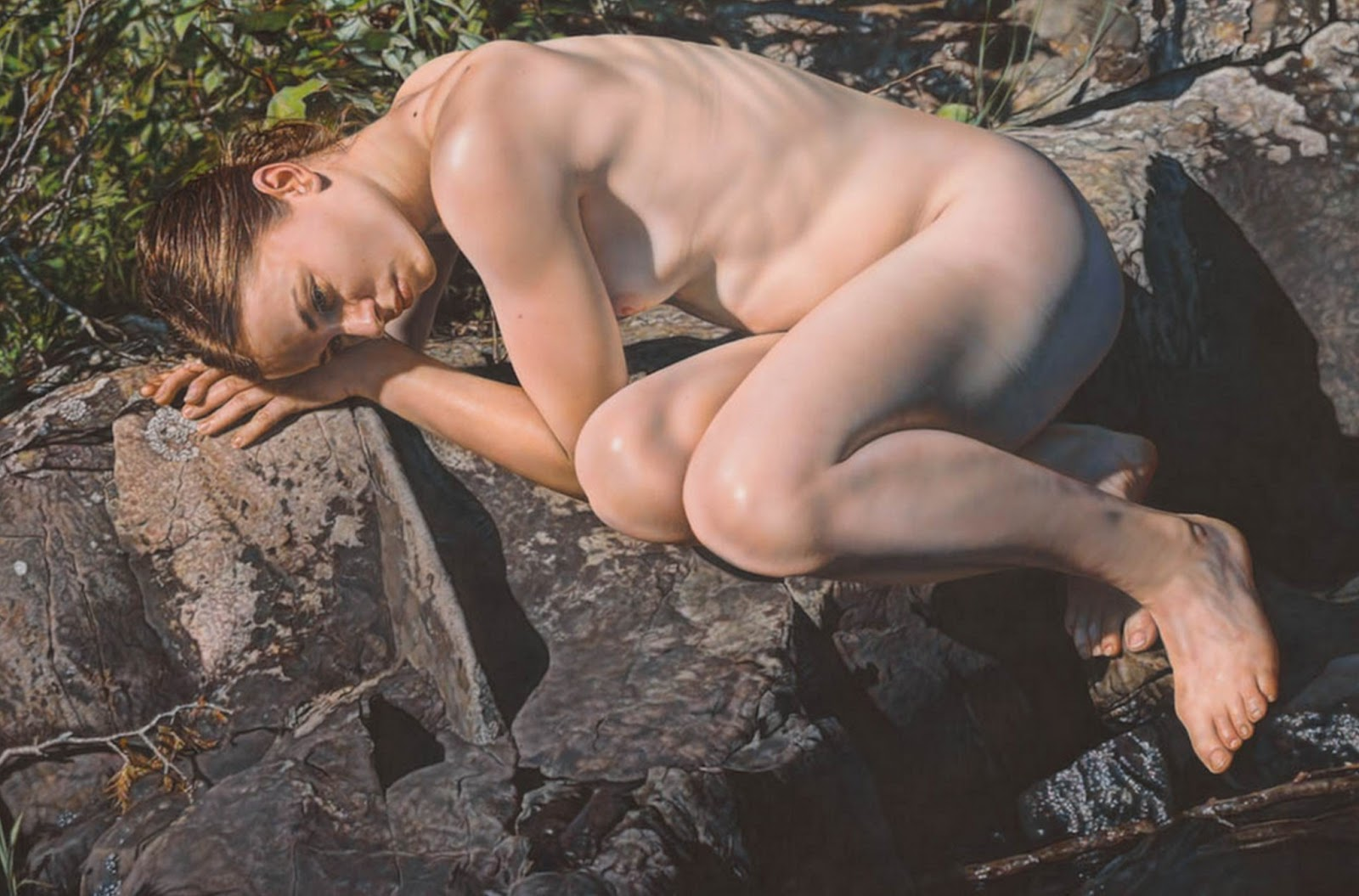 Art Stica Hiperrealista Cuadrosde Mujeres Desnudas Pintadas Al Leo