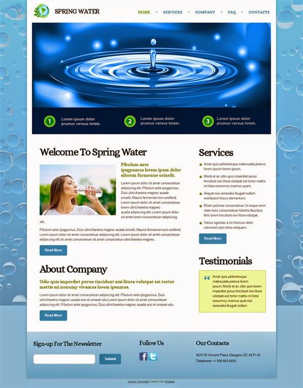 Spring Water - Free Joomla! Template