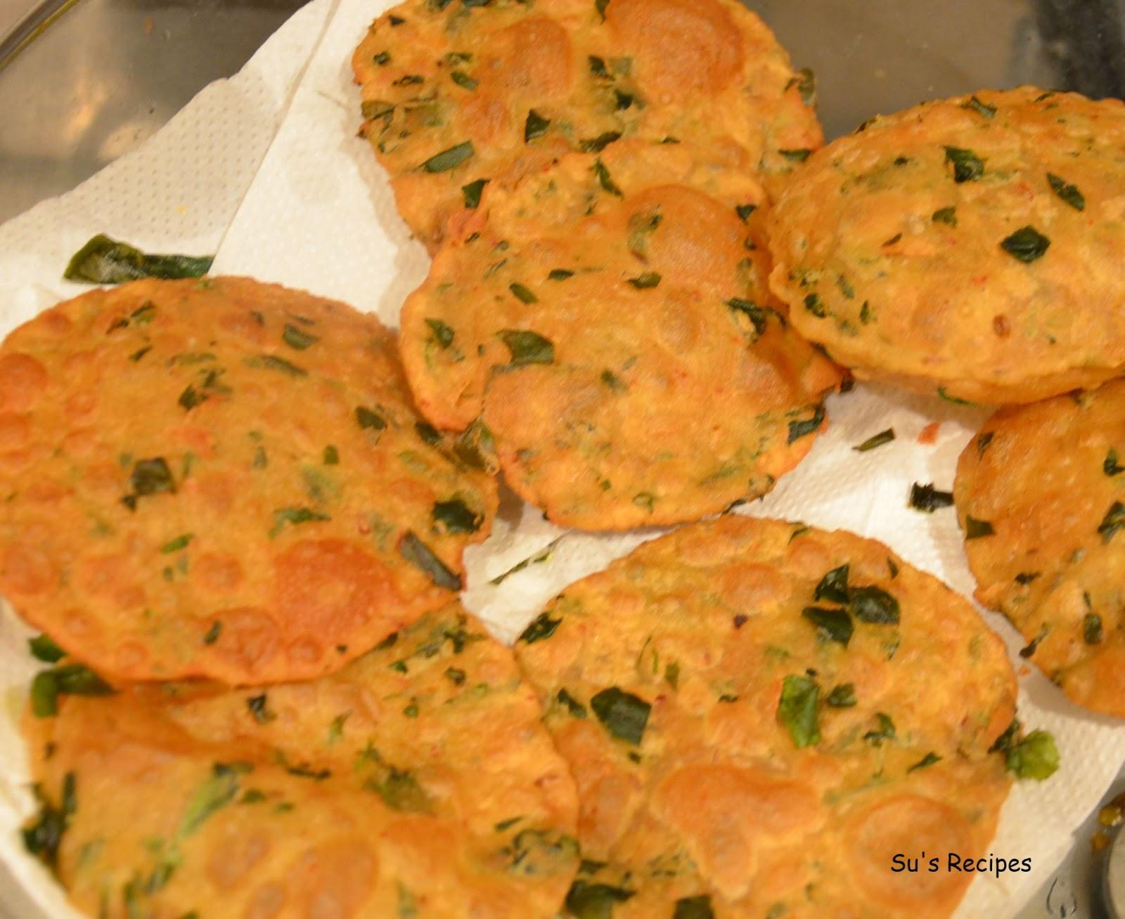 methi poori, poori, breakfast dish, Indian fried snack, nutritious breakfast, simple pooris, methi, fenugreek snack