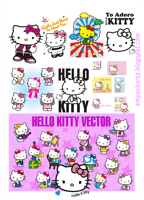hello kitty vector coleccion