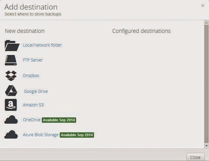 SQLBak-Set Destination
