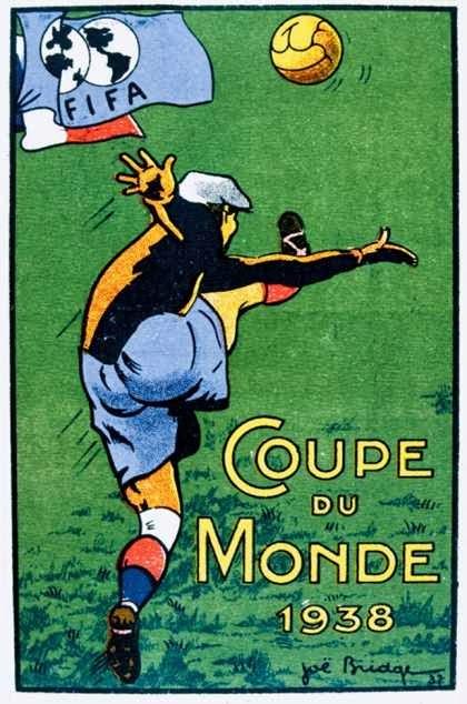 Cartaz Comemorativo da Copa do Mundo na França, 1938.
