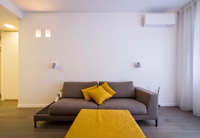 Faretti Zona Living: Una casa con zona giorno open space e camera sottotetto ...