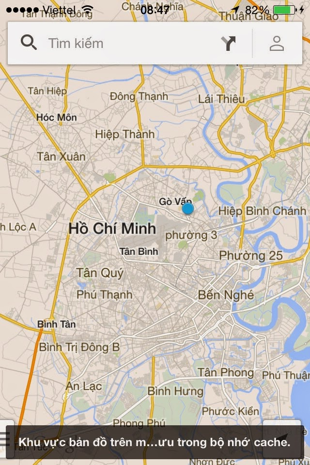 Cách sử dụng Google Map offline trên iOS 7