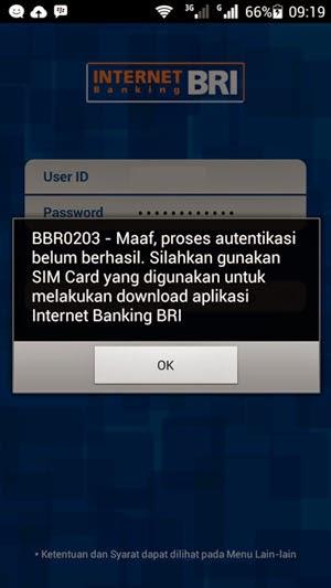 Mobile Banking BRI Tidak Bisa Di SIM 2 Honor 3C