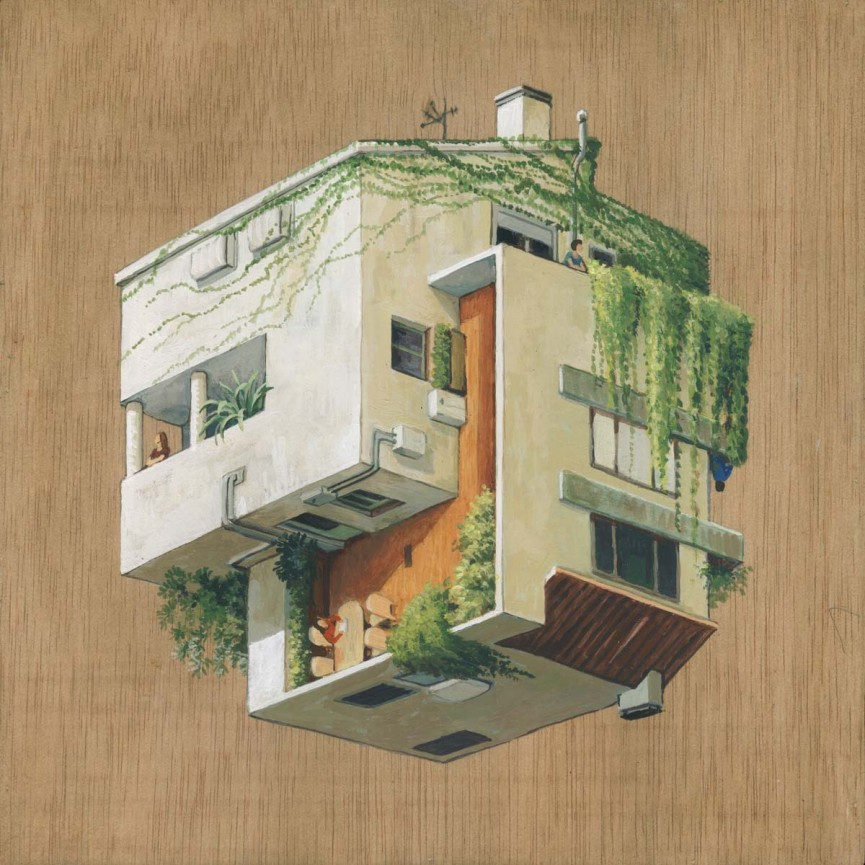 09-Venes-Cinta Vidal Agulló-Multi-directional-Surreal-Architecture-Drawings-and-Paintings-www-designstack-co
