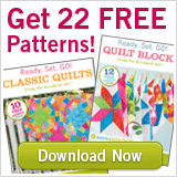 Sign up for free patterns with Accuquilt!