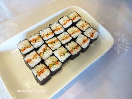 sushi ayam brand, resepi mudah