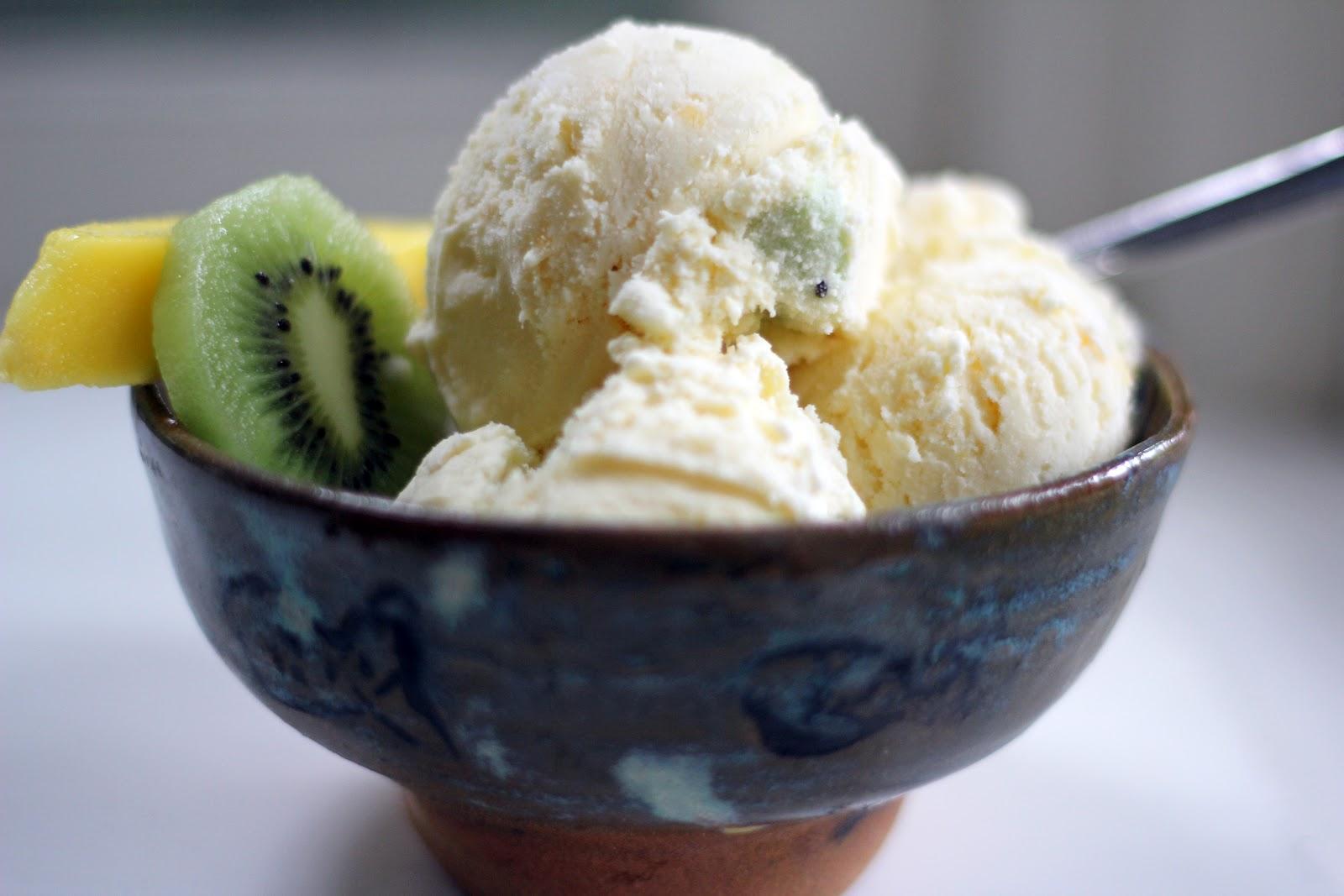 Blue Kale Road: Mango Kiwi Mascarpone Ice Cream: Birthday Time!