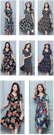 New Released 2016 Spring Plus Size Short Sleeve Floral Print Rayon Silk Cotton Dress