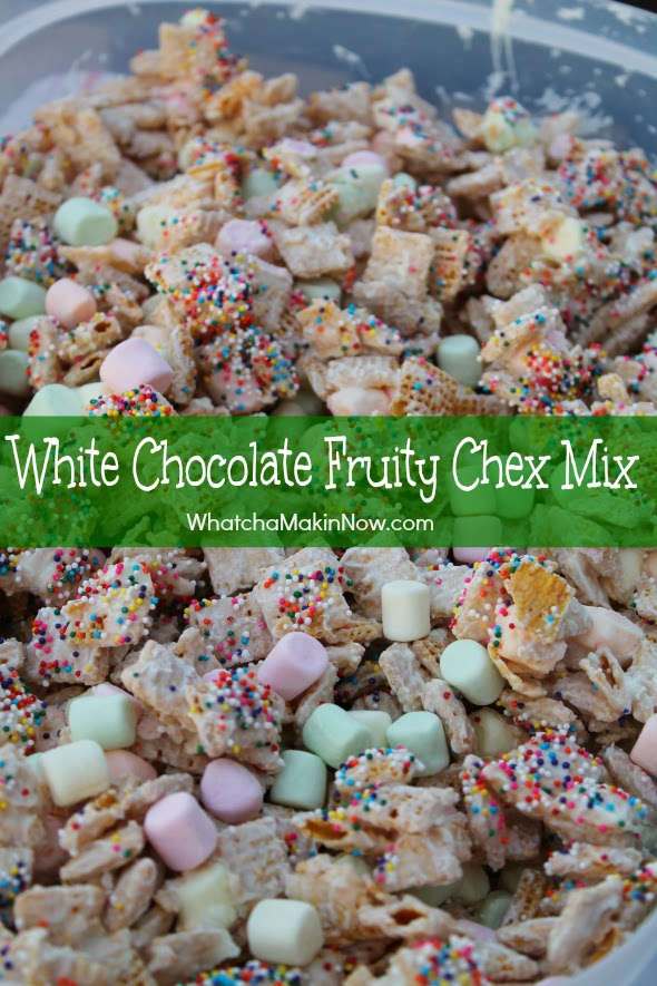 White Chocolate Fruity Chex Mix