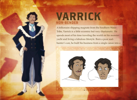 Varrick from Legend of Korra - BIO