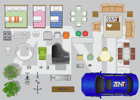 Furniture Floor Plan VECTOR PREMIUM ZENT DESIGN 2D