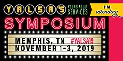 I'm attending the 2019 YA Services Symposium!