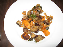 Anna's stir fried eggplant and sweet potato