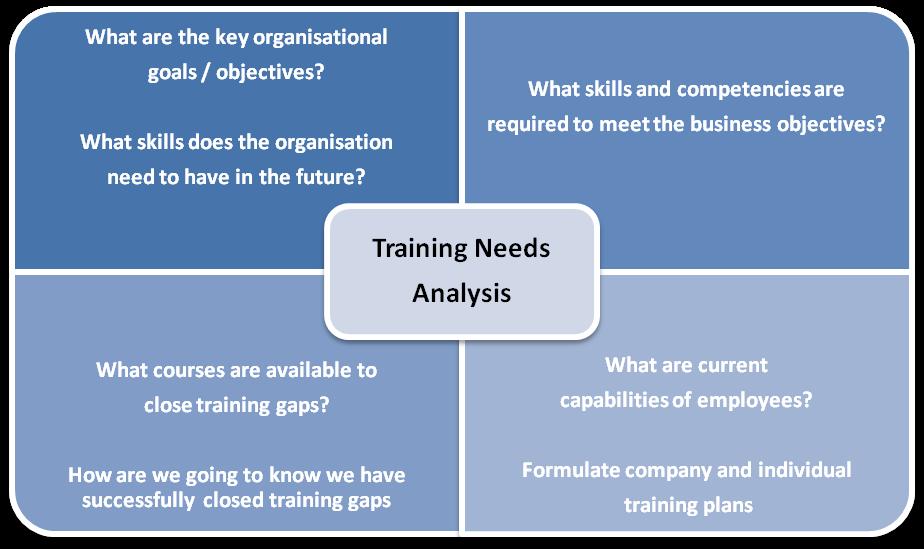 Training And Development Training And Development Analysis – Training Needs Assessment Template