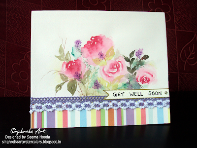roses,roseflowers,pinkroses,blooms, bouquet, cards, pastels,challenge, colorful, floral, floralart, flowers, getwell, getwellsoon, greetingcard, minipaintings, spring, summer, watercolorcard,