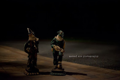project 52, spooky, photoblog, blog hop, still life photographer, still life photography, Virginia photographer, harlequin statues, antiques, long island, long island photographer,