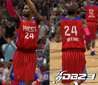 NBA 2K13 2013 East & West All-star Jerseys v1.5