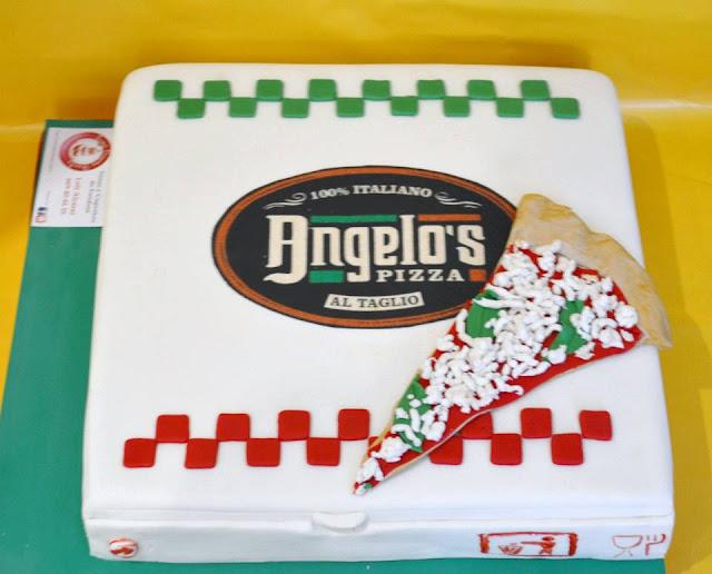 tarta Caja de Piza inauguracion Pizzeria Angelo Castello de Rugat