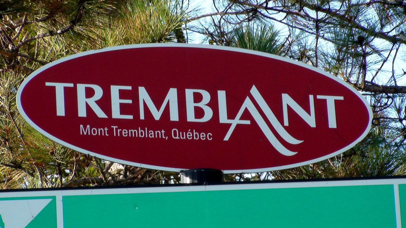 sign of Mont Tremblant, Quebec