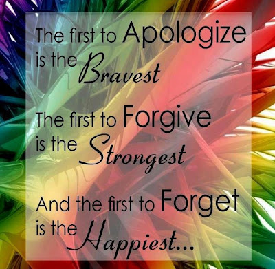 The first  to apologize is the bravest.