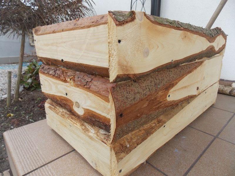 Skrzynia drewniana do ogrodu
