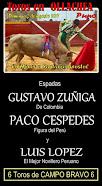 Paco Céspedes, Luis López y Zúñiga, anunciados en Ollaechea, el 02/08.