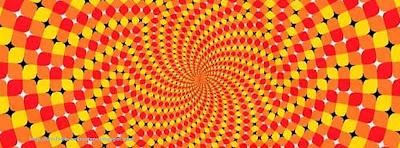 Couverture facebook  original illusons d'optique
