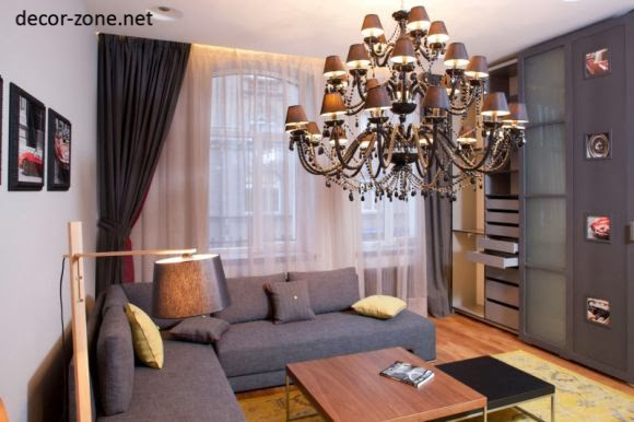 modern chandeliers designs for living room made of copper