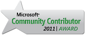 Microsoft Community Contributor Award 2011