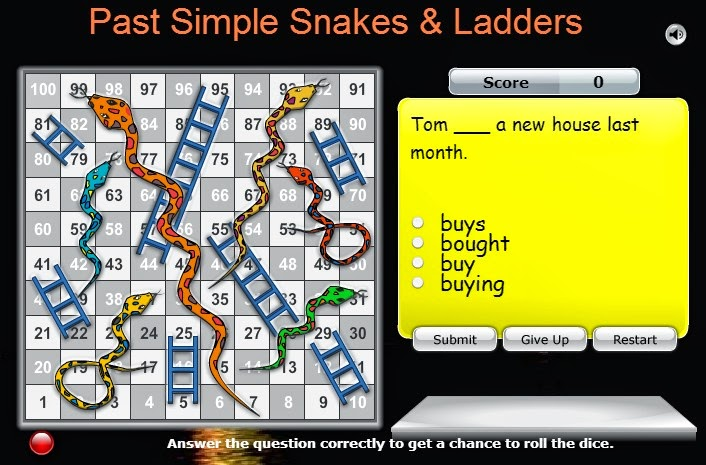 Resultado de imagen de snakes and ladders past simple