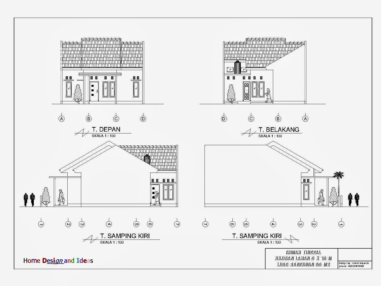 Rab Rumah Minimalis 2 Lantai Excel Denah Rumah Minimalis