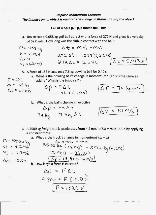 physics with coach t momentum review worksheet key. Black Bedroom Furniture Sets. Home Design Ideas