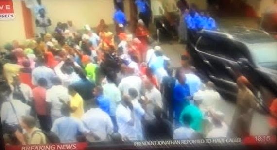 Jubilation At APC headquarters In Abuja