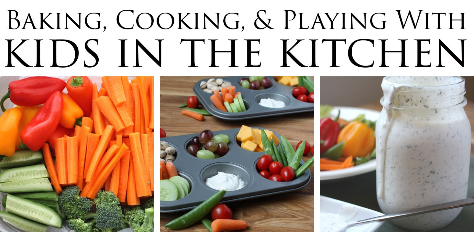 Recipes for baking, cooking, and playing with kids in the kitchen!