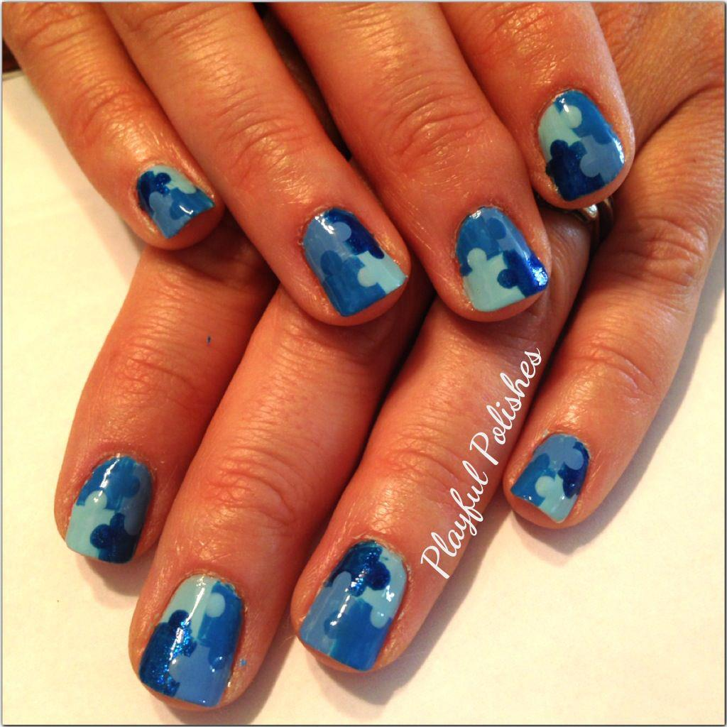 Playful polishes playul polishes designs on others for those of you who dont know this month is autism awareness month i posted a picture on facebook about autism awareness within the nail community and a prinsesfo Images