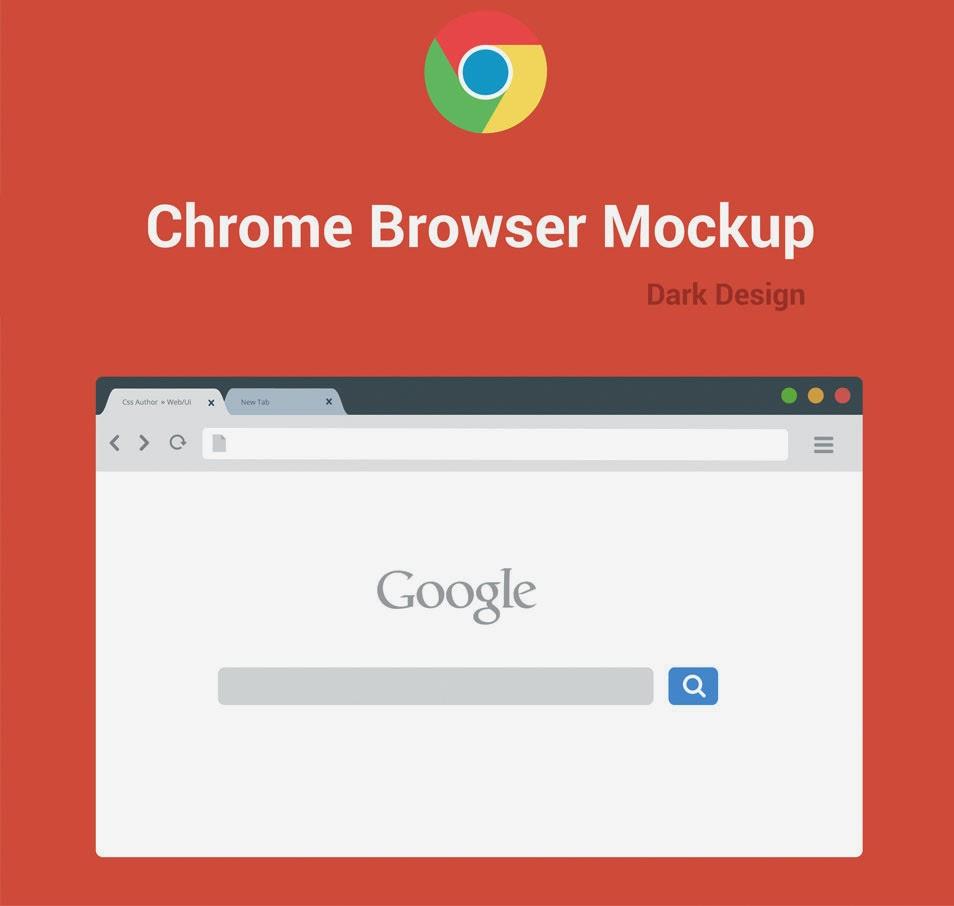 Free Chrome Browser Mockup
