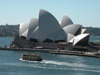 Iconic Sydney Opera House celebrates its 40th anniversary October 2013. Photograph by Janie Robinson, Travel Writer